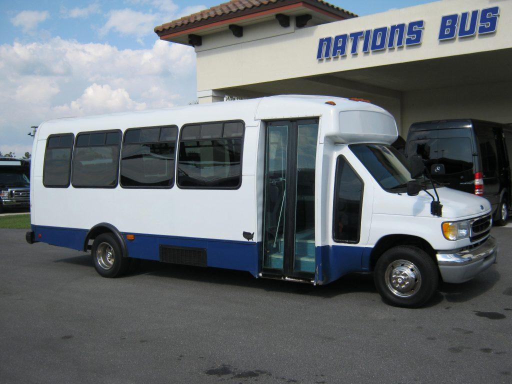 Ford E450 25 passenger charter shuttle coach bus for sale - Diesel