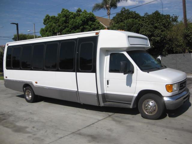 Ford E450 26 passenger charter shuttle coach bus for sale - Gas
