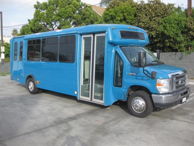 Ford E450 19 passenger charter shuttle coach bus for sale - Propane