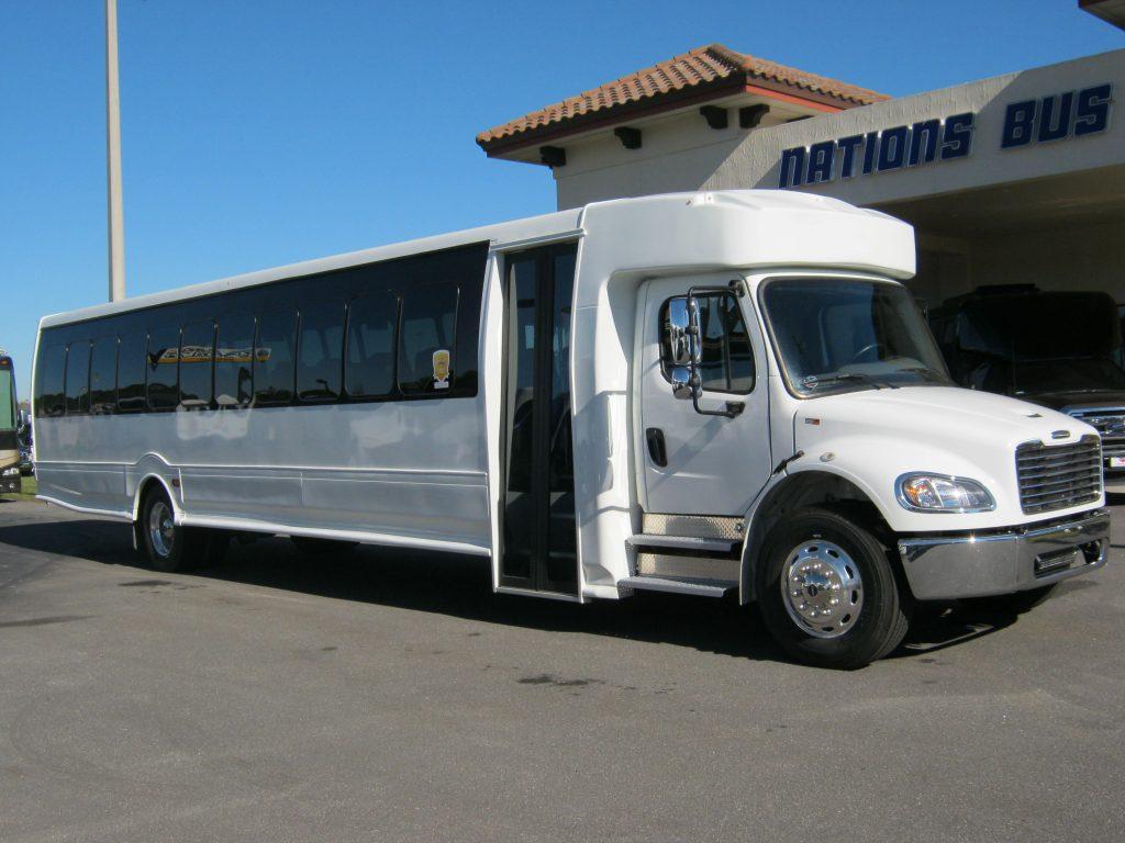 Freightliner M2 49 passenger charter shuttle coach bus for sale - Diesel