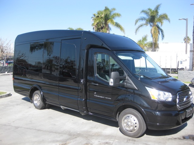 Ford Transit  13 passenger charter shuttle coach bus for sale - Gas