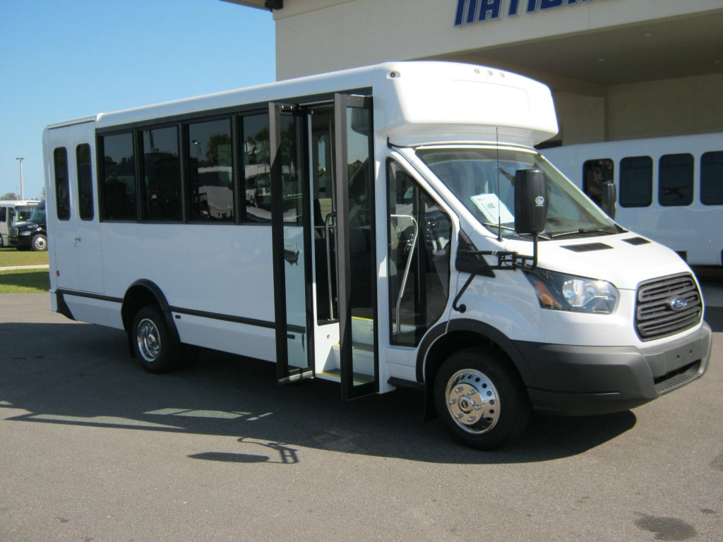 Ford Transit 12 passenger charter shuttle coach bus for sale - Gas