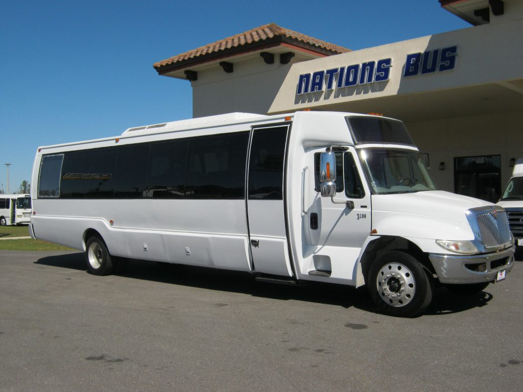 International 36 passenger charter shuttle coach bus for sale - Diesel
