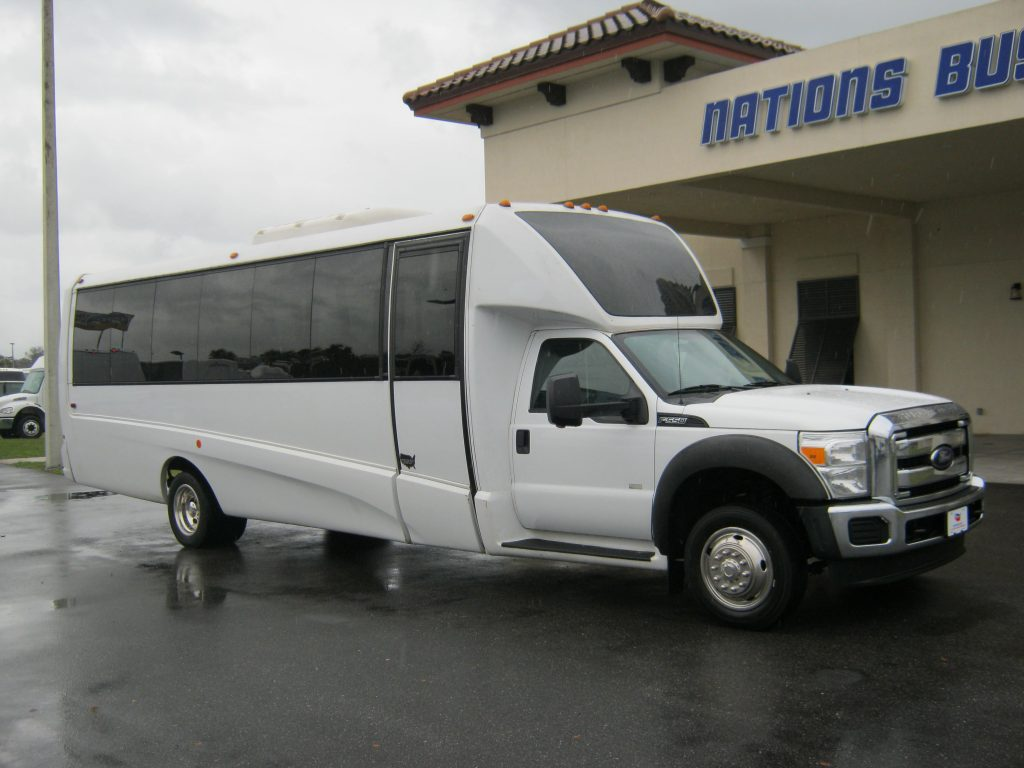 Ford F550 28 passenger charter shuttle coach bus for sale - Gas
