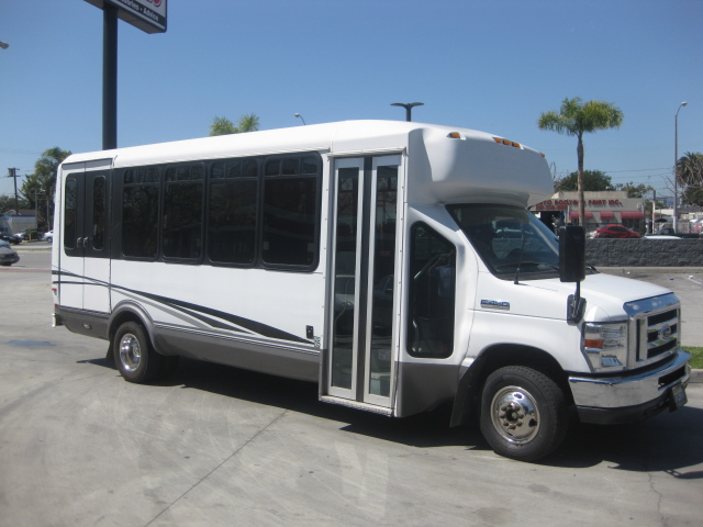 Ford E450 18 passenger charter shuttle coach bus for sale - Gas