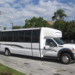 Ford F550 30 passenger charter shuttle coach bus for sale - Diesel 1