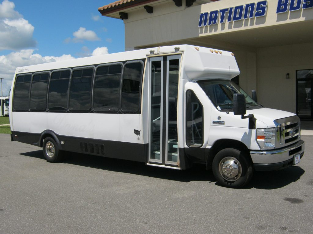 Ford E450 26 passenger charter shuttle coach bus for sale - Gas