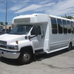 Chevy C5500 25 passenger charter shuttle coach bus for sale - Diesel 2