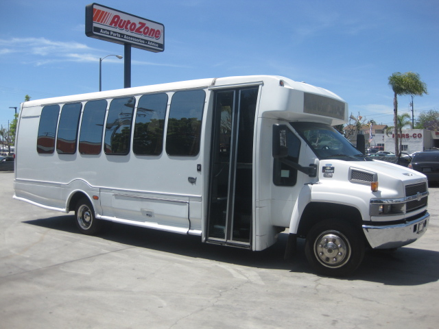 Chevy C5500 25 passenger charter shuttle coach bus for sale - Diesel
