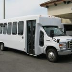 Ford E450 28 passenger charter shuttle coach bus for sale - Gas 1