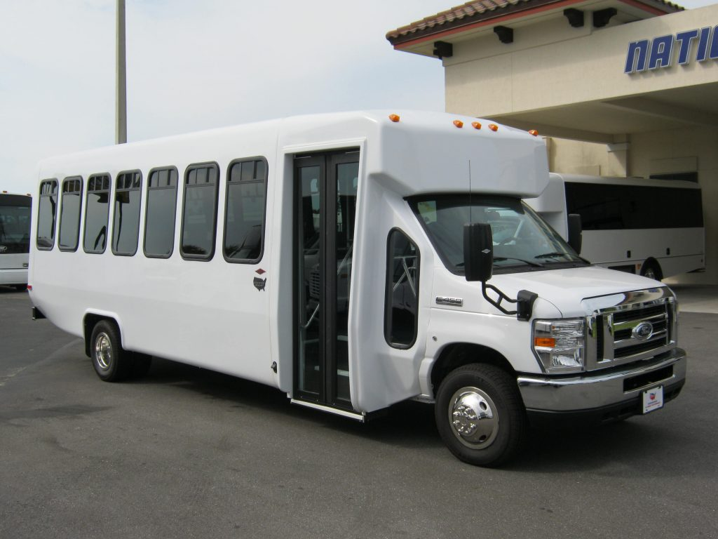 Ford E450 28 passenger charter shuttle coach bus for sale - Gas