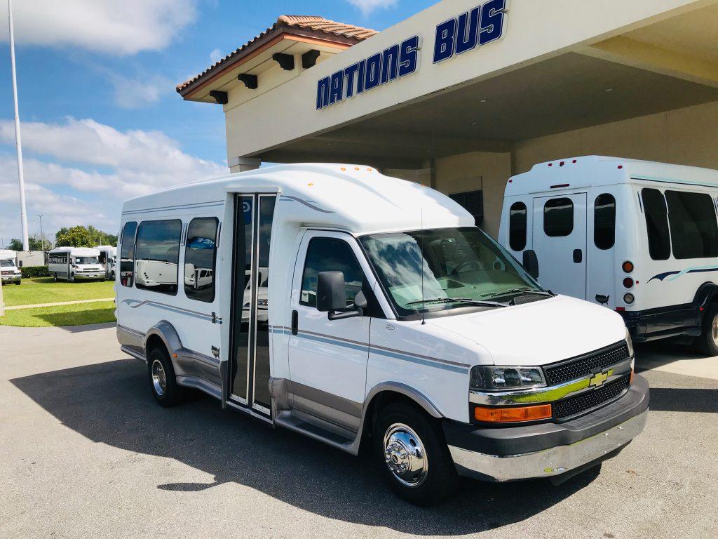 Chevy C3500 13 passenger charter shuttle coach bus for sale - Gas