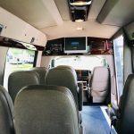 Chevy C3500 13 passenger charter shuttle coach bus for sale - Gas 6