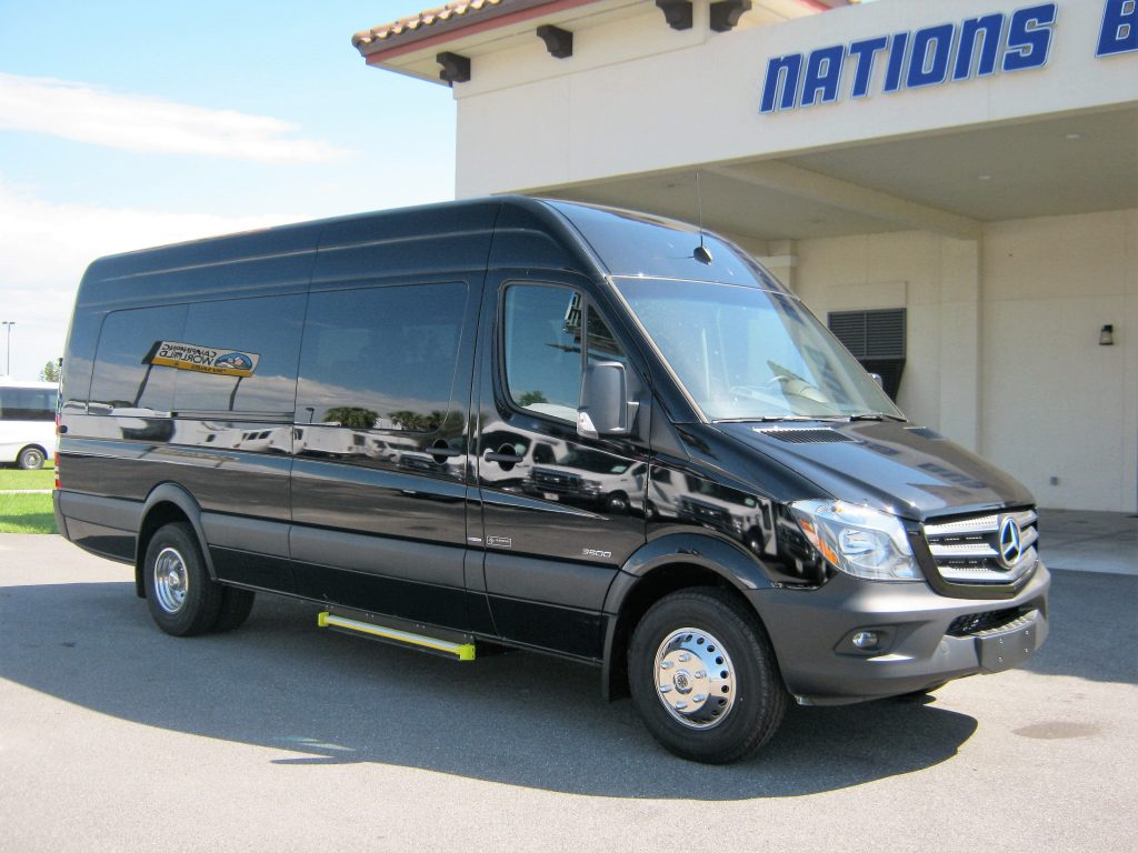 Mercedes 3500 14 passenger charter shuttle coach bus for sale - Diesel