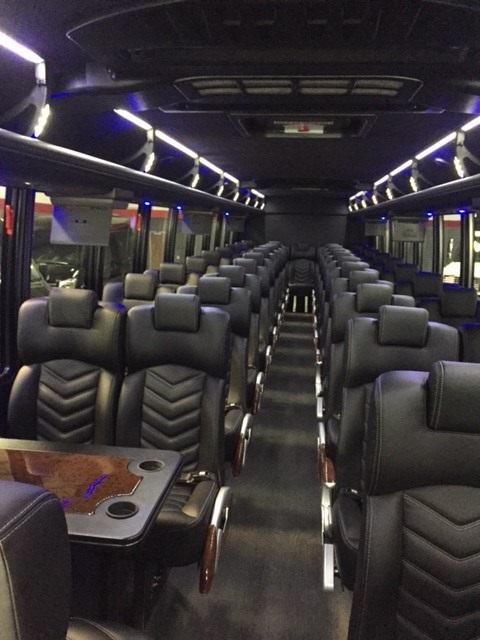 Freightliner M2 48 passenger charter shuttle coach bus for sale - Diesel