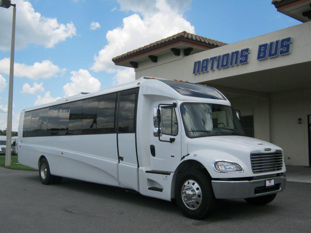 Freightliner M2 38 passenger charter shuttle coach bus for sale - Diesel