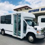Ford E-450 12 passenger charter shuttle coach bus for sale - Gas 1