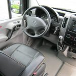 Mercedes 3500 16 passenger charter shuttle coach bus for sale - Diesel 7