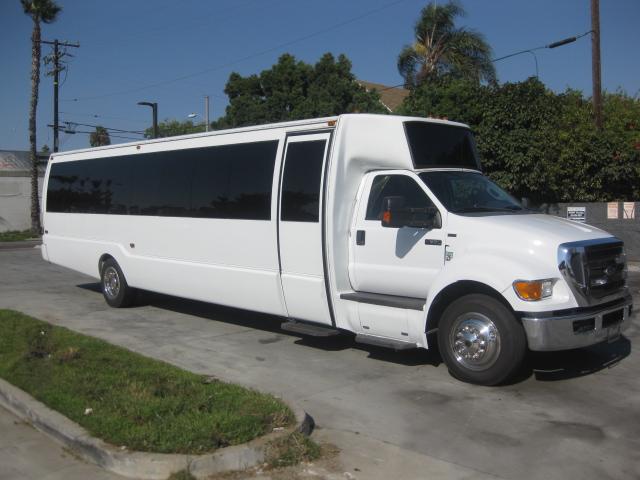 Ford F650 42 passenger charter shuttle coach bus for sale - Diesel
