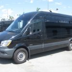 Mercedes 2500 14 passenger charter shuttle coach bus for sale - Diesel 3