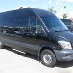 Mercedes 2500 14 passenger charter shuttle coach bus for sale - Diesel 1