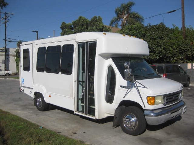 Ford E450 12 passenger charter shuttle coach bus for sale