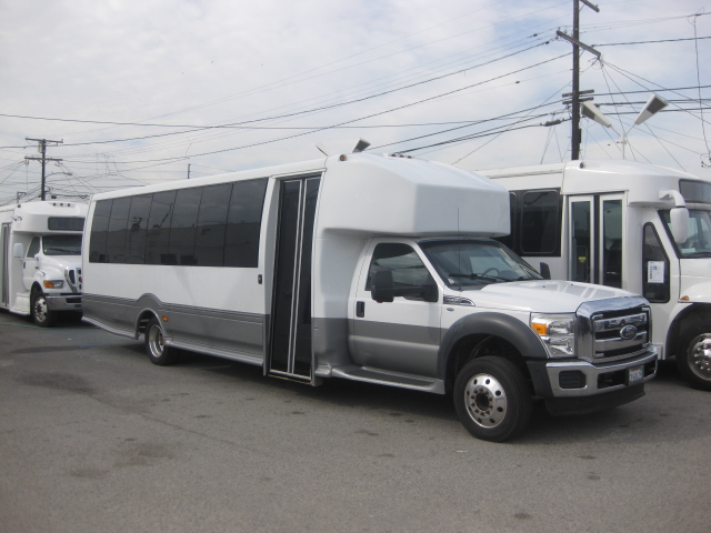 Ford F550 31 passenger charter shuttle coach bus for sale - Diesel