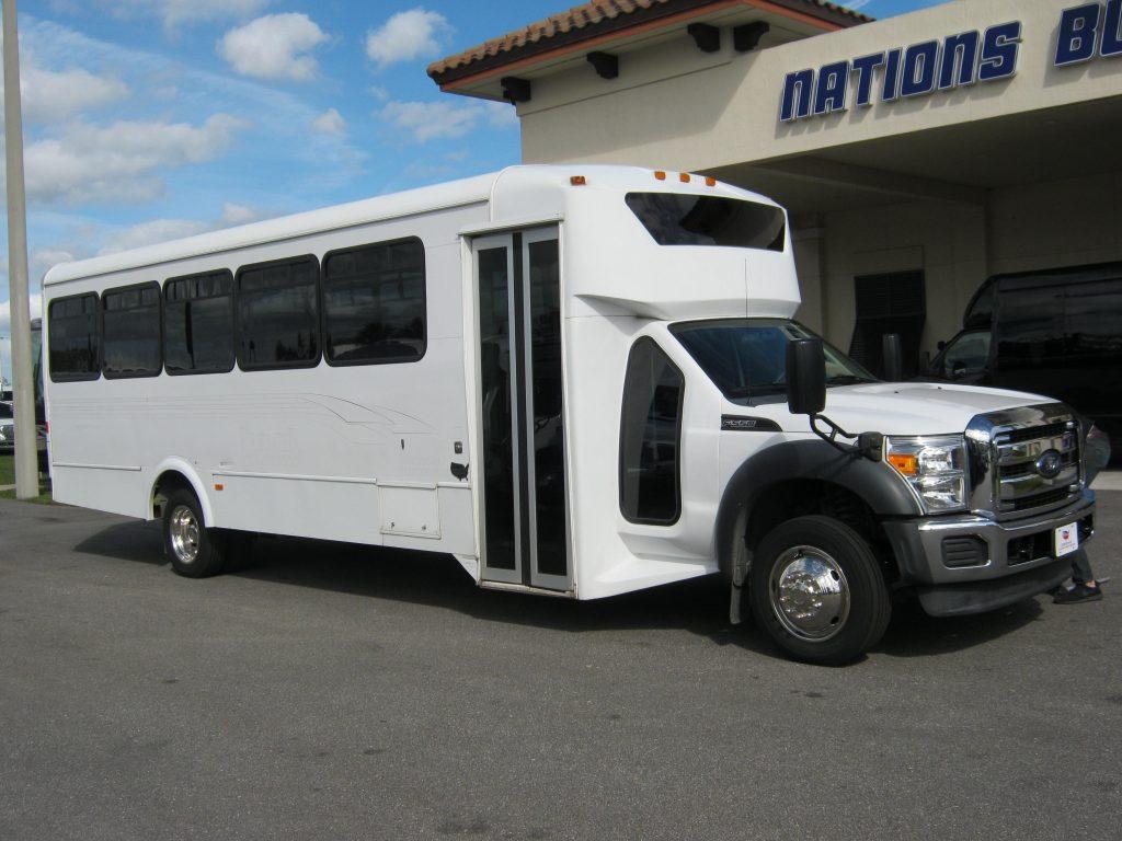 Ford F550 32 passenger charter shuttle coach bus for sale - Diesel