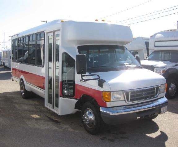 Ford E450 18 passenger charter shuttle coach bus for sale - Gas