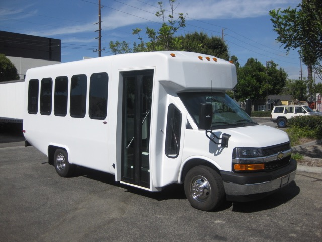 Chevy C3500 14 passenger charter shuttle coach bus for sale - Gas
