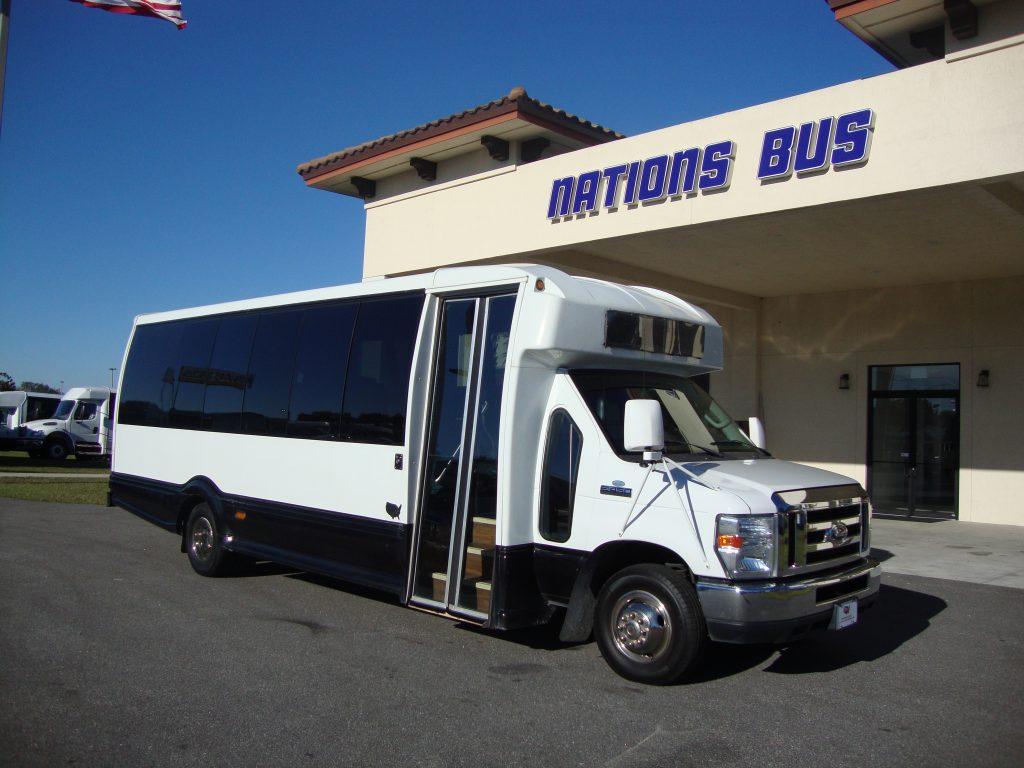 Ford E450 21 passenger charter shuttle coach bus for sale - Gas