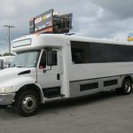 International HC 33 passenger charter shuttle coach bus for sale - Diesel 3
