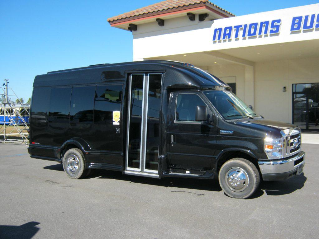Ford E350 13 passenger charter shuttle coach bus for sale - Gas