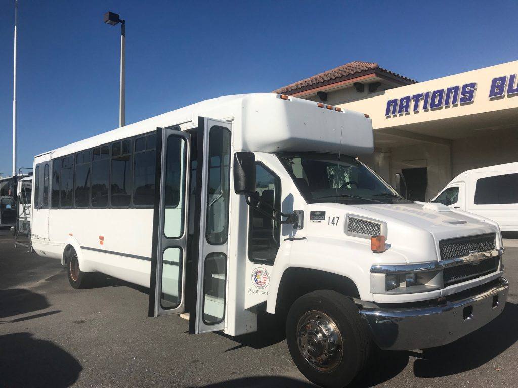 Chevy C5500 30 passenger charter shuttle coach bus for sale - Gas
