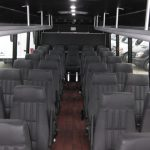 Ford F550 33 passenger charter shuttle coach bus for sale - Diesel 6