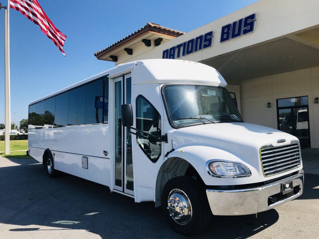 Freightliner M2 37 passenger charter shuttle coach bus for sale - Diesel