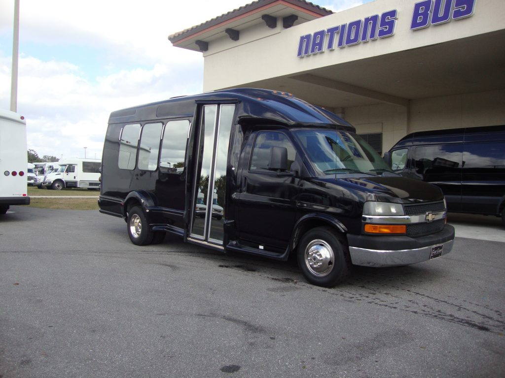 Chevy G3500 12 passenger charter shuttle coach bus for sale - Gas