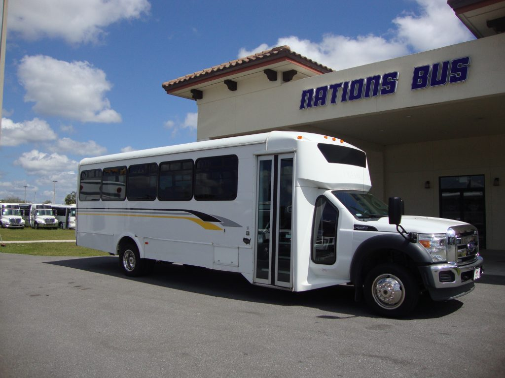 Ford F550 32 passenger charter shuttle coach bus for sale - Diesel