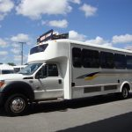 Ford F550 32 passenger charter shuttle coach bus for sale - Diesel 3