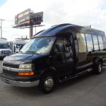 Chevy G3500 12 passenger charter shuttle coach bus for sale - Gas 3