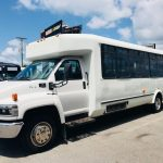 Chevy C5500 15 passenger charter shuttle coach bus for sale - Gas 3
