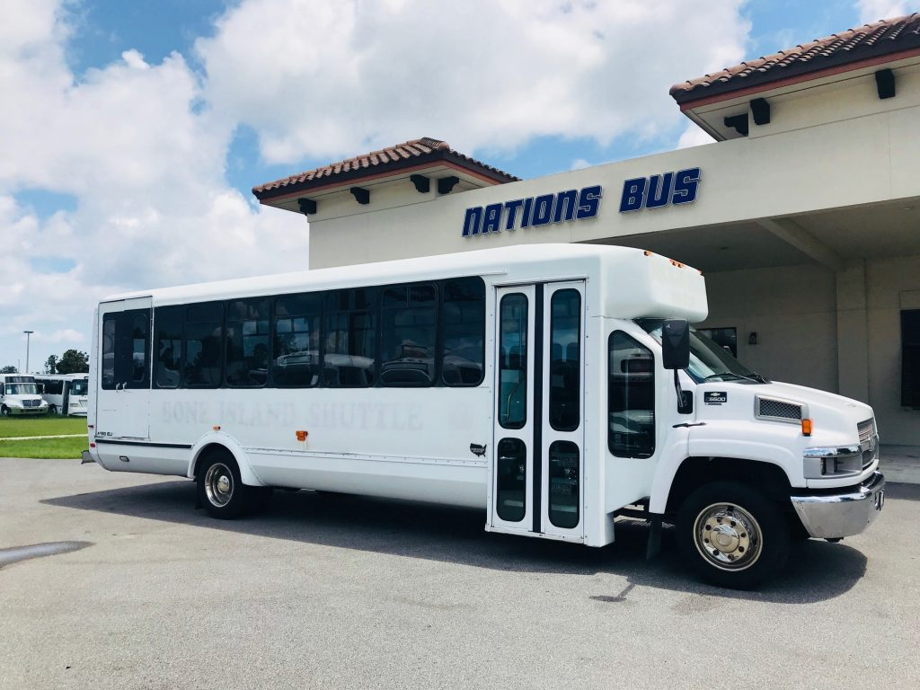 Chevy C5500 15 passenger charter shuttle coach bus for sale - Gas