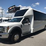 Ford F550 28 passenger charter shuttle coach bus for sale - Gas 2