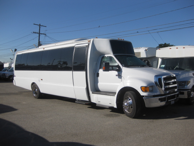 Ford F650 32 passenger charter shuttle coach bus for sale - Diesel