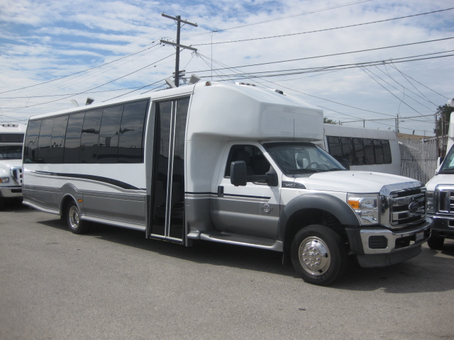 Ford F550 28 passenger charter shuttle coach bus for sale - Diesel