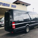 Mercedes 3500 12 passenger charter shuttle coach bus for sale - Diesel 4