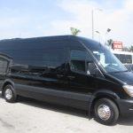 Mercedes 3500 13 passenger charter shuttle coach bus for sale - Diesel 1