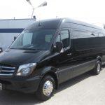 Mercedes 3500 13 passenger charter shuttle coach bus for sale - Diesel 3