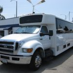 Ford F650 36 passenger charter shuttle coach bus for sale - Diesel 3