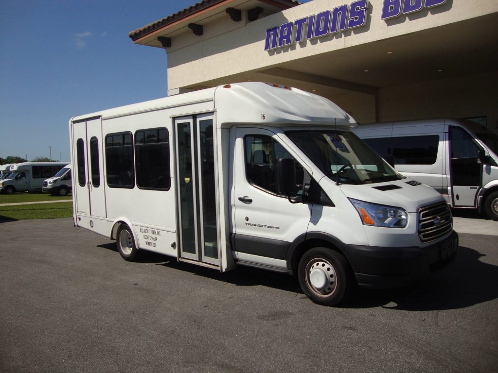 Ford Transit 10 passenger charter shuttle coach bus for sale - Gas